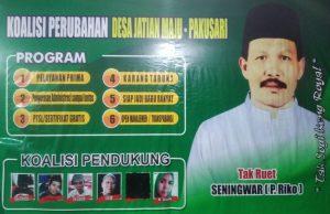 Seningwar (Pa Rico) Calon Kepala Desa Jatian Kecamatan Pakusari Kabupaten Jember